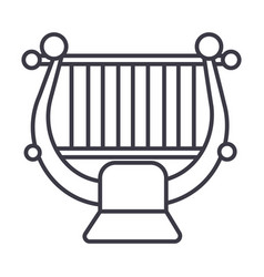 harpstring classical music line ico vector image