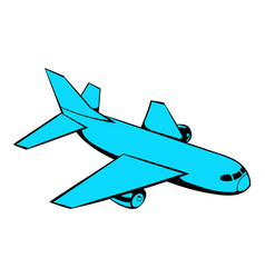 passenger airplane icon icon cartoon vector image