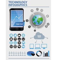 set with infographics elements vector image vector image