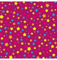 Bright stars pink seamless pattern vector image