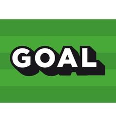 Football soccer goal logo vector