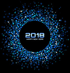 happy new year 2018 card background vector image vector image