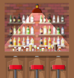 interior of pub cafe or bar vector image vector image