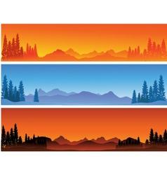 winter banner background vector image vector image