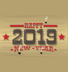 2019 happy new year western vector