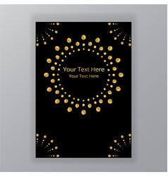 abstract golden black circle luxury elegant vector image