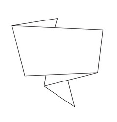 abstract origami speech bubble icon idesign vector image