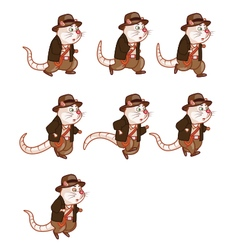 Adventurer Rat Running Sprite vector