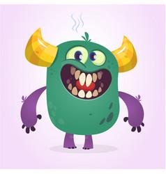 Angry cartoon cute monster vector