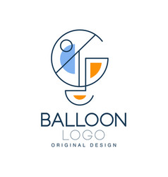 balloon logo original design element for vector image