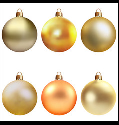 christmas tree decorations vector image