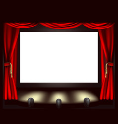 cinema screen vector image