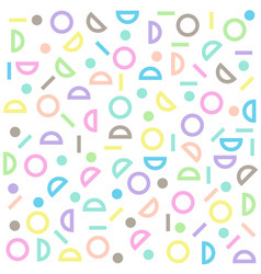 Circle half-circle line pattern colorful pastel vector