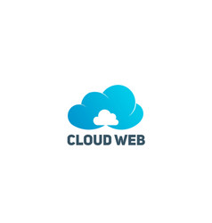Cloud web technology logo symbol vector