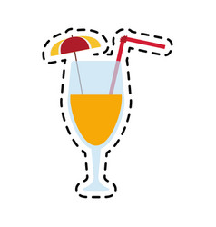 cocktail drink icon image vector image