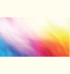 colorful geometric polygonal flame background vector image