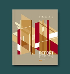 Cover Magazine Abstract buildings brown background vector