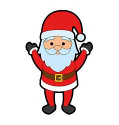 cute santa claus character vector image