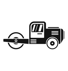 danger road roller icon simple style vector image