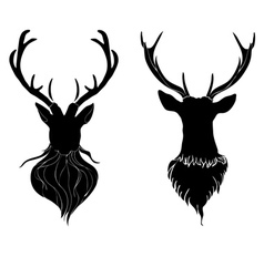 Deer Head4 vector image