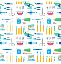 dentist doctor character and stomatology equipment vector image