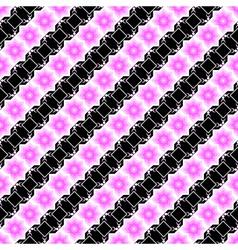 Design seamless pink and black diagonal pattern vector image