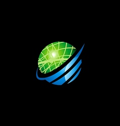 Earth globe planet science logo vector