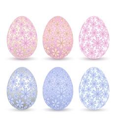 Easter egg 3d icon pastel color eggs set vector
