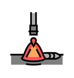 Electroslag welding color icon vector