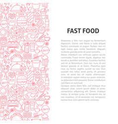 fast food line pattern concept vector image
