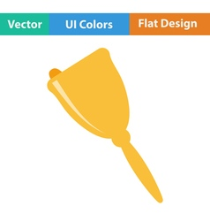 Flat design icon of School hand bell vector
