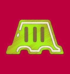 Flat shading style icon fence vector