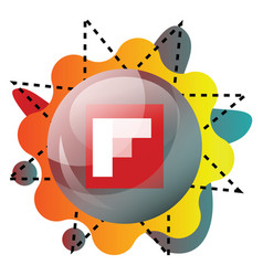 flipboard logo inside a bubble with colorful vector image