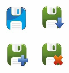 Floppy Disks Set vector image