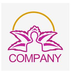 Floral wellness logo icon vector