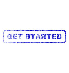 get started rubber stamp vector image
