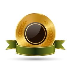 Golden Green Black Premium Quality Best Labels vector