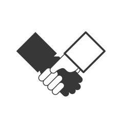 Handshake icon Human hand design graphic vector