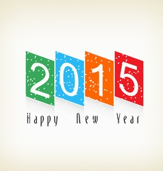 Happy new year trim paper 2015 vector