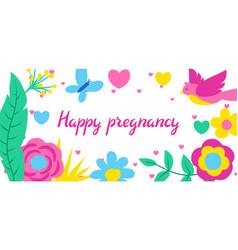 happy pregnancy card baby shower invitation vector image