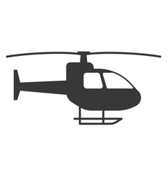 helicopter black icon aviation and aircraft vector image
