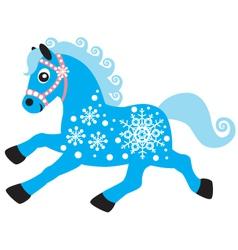 Horse of winter vector
