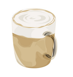 Hot latte coffee icon vector