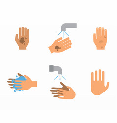 how to wash hands set vector image