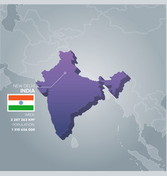 India information map vector