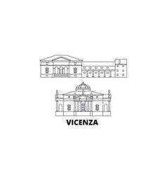 Italy vicenza line travel skyline set italy vector