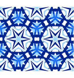 Kaleidoscope star blue background vector