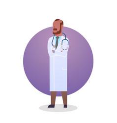 man medical doctor icon clinics hospital medicine vector image