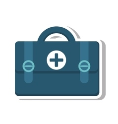 Medical kit isolated icon vector