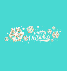 Merry christmas poster modern hand drawn vector